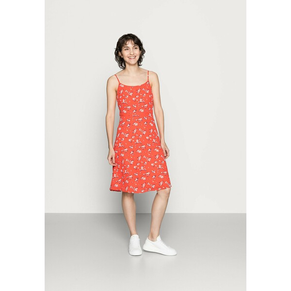 Anna Field STRAPPA FIT AND FLARE Sukienka letnia red/white AN621C1MM