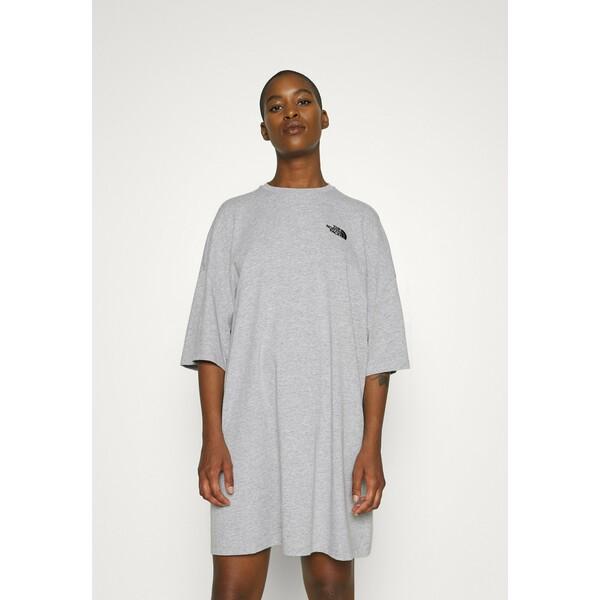 The North Face TEE DRESS Sukienka z dżerseju light grey heather TH321C008