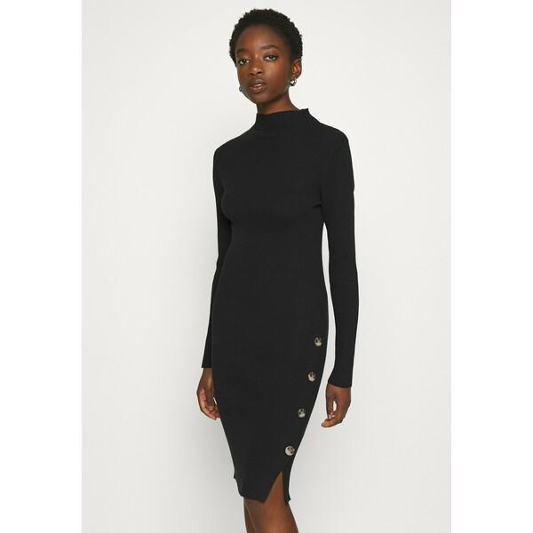 Vila VISOLTO BUTTON DRESS Sukienka etui black V1021C246