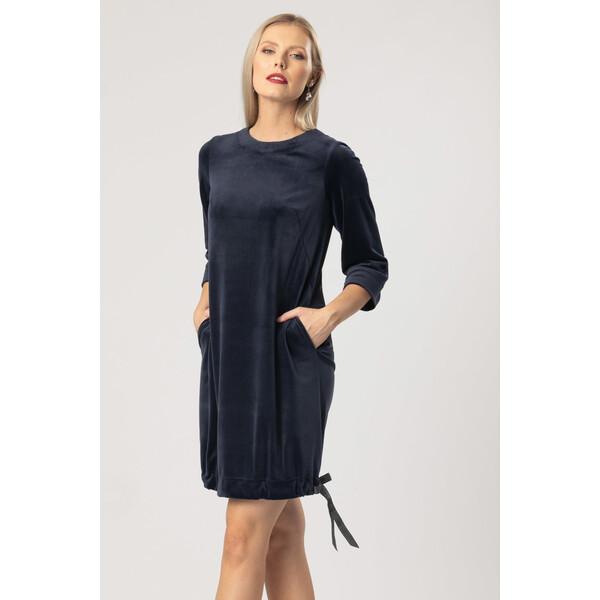 Quiosque Welurowa sukienka z wiązaniem u dołu 4KR023802