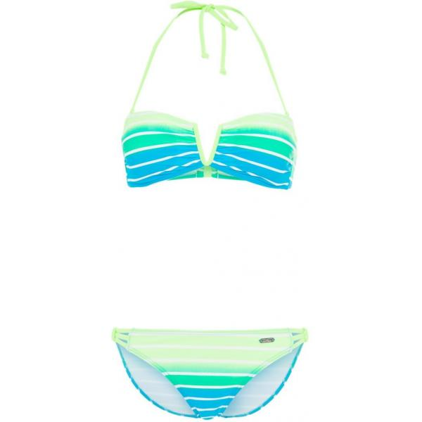 Venice Beach Bikini turquoise striped 2VE41H008