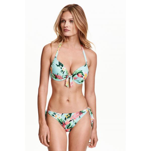 H&M Bikini tanga bottoms 0351028005 Turquoise/Floral