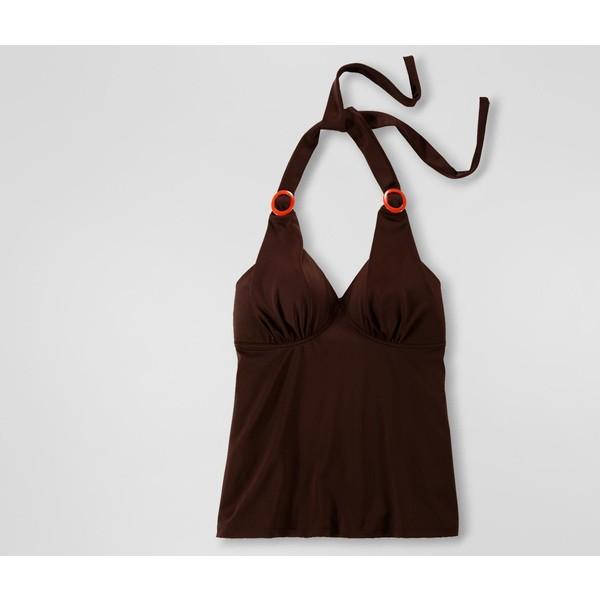 Tchibo Top od tankini wiązany na szyi, brązowy 400032982