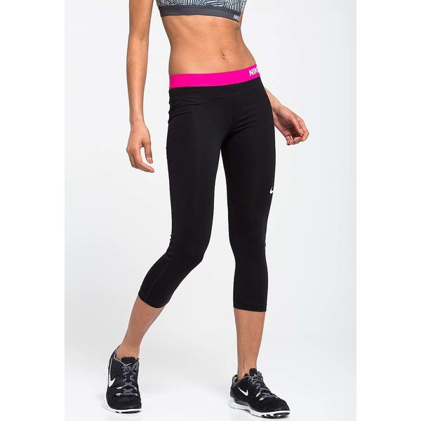 Nike Performance PRO Legginsy black/vivid pink/white N1241E06O