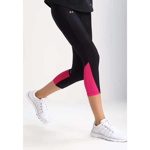 Under Armour FLY BY Legginsy black/tropic pink UN241E01Z