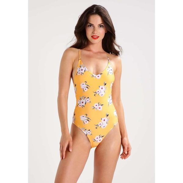 Topshop POSIE FLORAL Kostium kąpielowy orange TP721G0A9