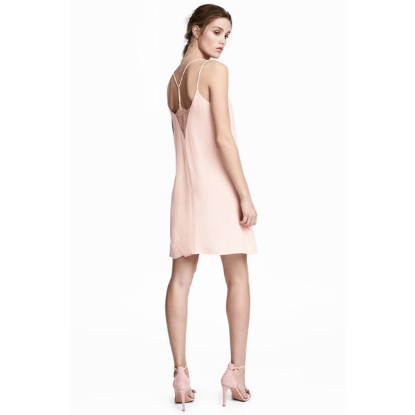 H&M Sukienka na ramiączkach 0527413002 Pudroworóżowy