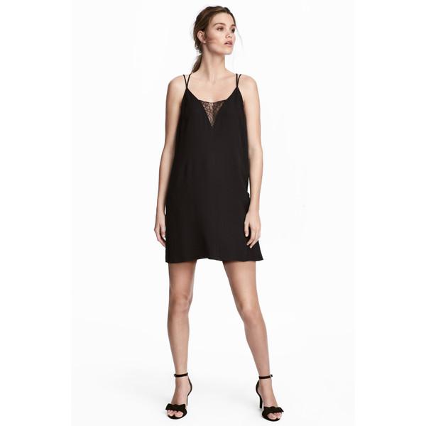 H&M Sukienka na ramiączkach 0527413002 Czarny