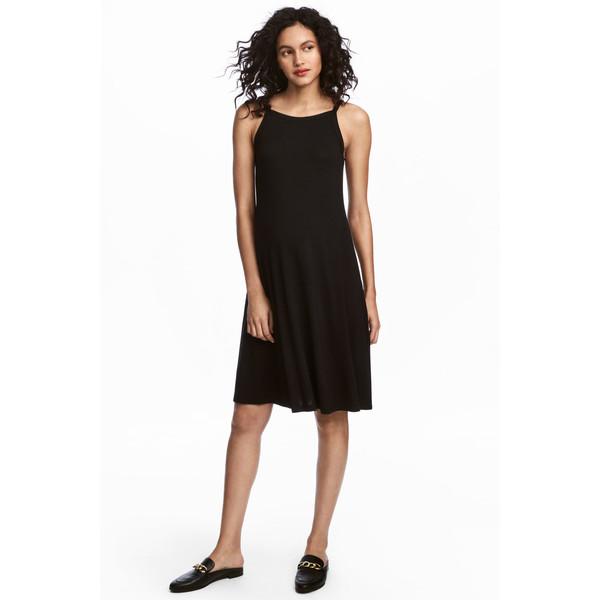 H&M MAMA Dżersejowa sukienka 0512078001 Czarny