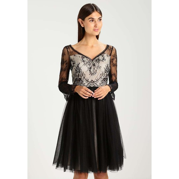 Chi Chi London ANTHEA Sukienka koktajlowa black/nude CZ621C06E