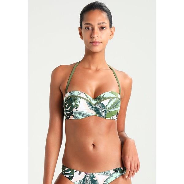 Seafolly PALM BEACH BUSTIER BANDEAU Góra od bikini moss S1981J00Q