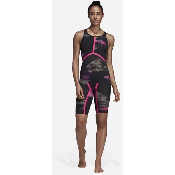 adidas Performance ADIZERO Kostium kąpielowy black/pink AD581G022