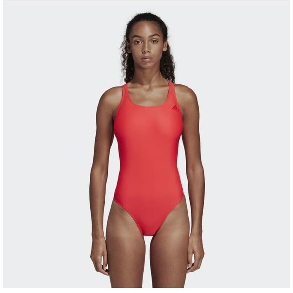 adidas Performance ATHLY V SOLID SWIMSUIT Kostium kąpielowy red AD581G02I