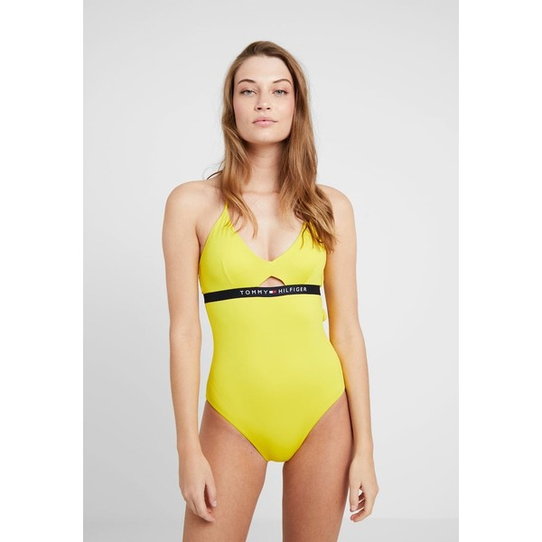 Tommy Hilfiger CORE SOLID LOGO ONE PIECE Kostium kąpielowy empire yellow TO181G00H