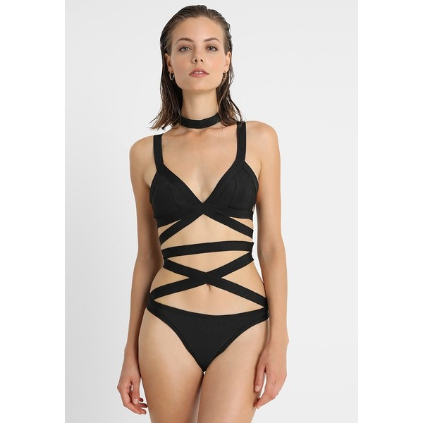 Missguided BANDAGE STRAPPY SET Bikini black M0Q81L00O