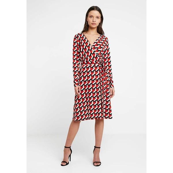 Wallis Petite GEO WRAP DRESS Sukienka z dżerseju red WP021C052